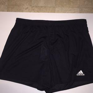 Adidas semi sheer climalite black shorts. Size XL.